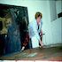 Ann painting Kali Poem early 1980s